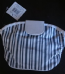 Striped cosmetic bag - ex high street (Code 1923)